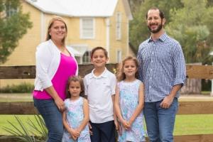 Family photography session gemini springs park debary florida whole family holiday image